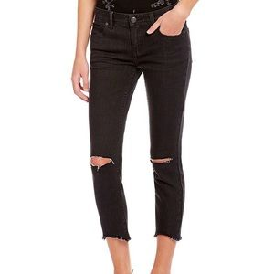 Free People Black Ripped and Frayed Jeans
